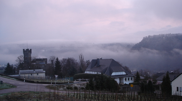 Serrig as the fog lifts