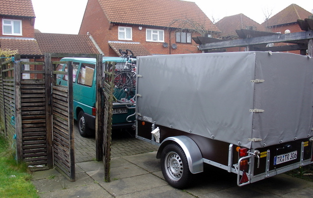The big green monster and Rudi's trailer